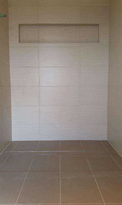 Tile floor waste